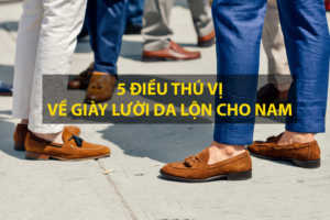 Giày Lười Da Lộn Cho Nam