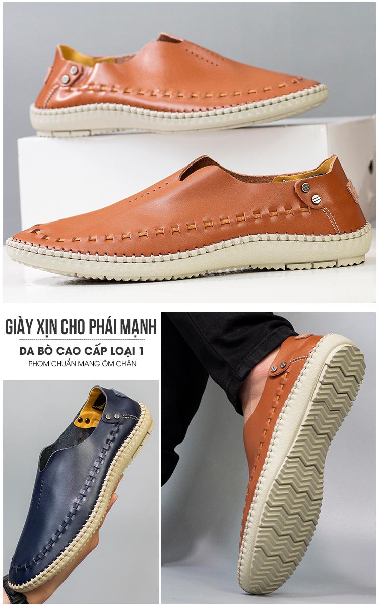 Giày Lười Da Nam Timan TK09